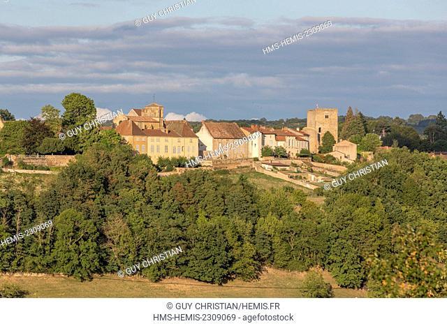 France, Saone et Loire, Semur en Brionnais, labelled Les Plus Beaux Villages de France (The Most Beautiful Villages of France)