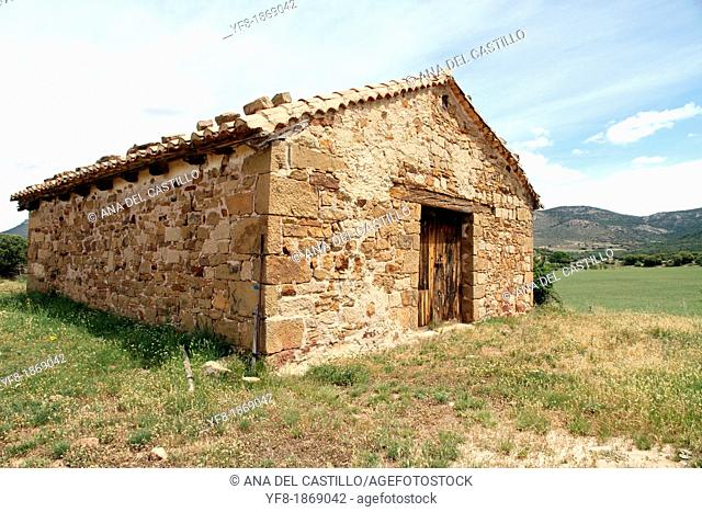 Mora de Rubielos, Gudar mountains, straw loft, Teruel, Aragon, Spain