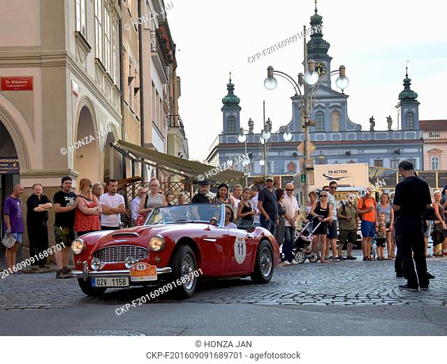 South Bohemia Clasic 2016 veteran car rally starts in Ceske Budejovice, Czech Republic, September 9, 2016. (CTK Photo/Jan Honza)
