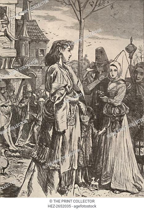 'Illustration from poem A Beckett's Troth., c1860-1875, (1923). Gilbert a Becket. Romantic story of a 12th-century crusader, Gilbert Ó Becket