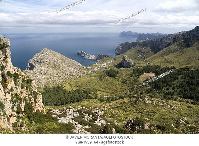 Landscape of the Serra de Tramuntana, Spain, Balearic Islands, Mallorca