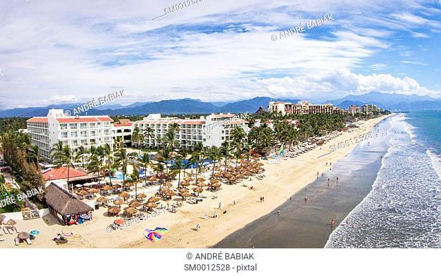 Drone photo - Nuevo Vallarta Beach, Bahia de Banderas, Nayarit, Mexico