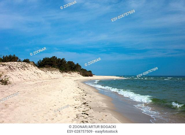 Baltic Sea Beach on Hel Peninsula in Poland