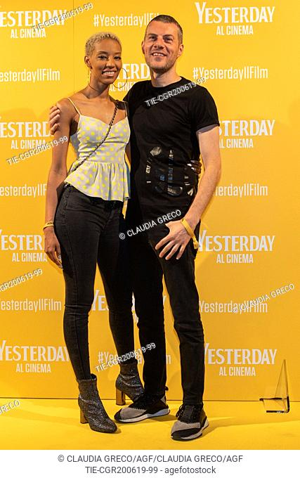 Didi, Max Brigante during the photocall of film ' Yesterday ' in Milan, ITALY-20-06-2019