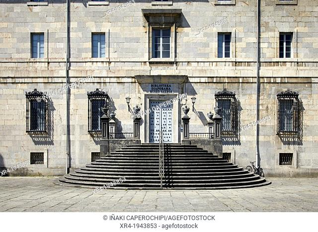 Libray, Sanctuary of Loyola, Azpeita, Guipuzcoa, Basque Country, Spain