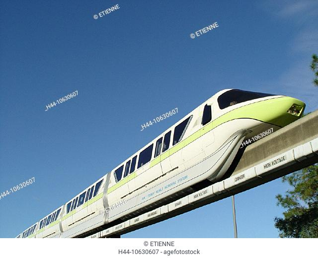10630607, railway, monorail, Florida, magnet road, magnet suspension railway, Monorail, transport, USA, America, North America