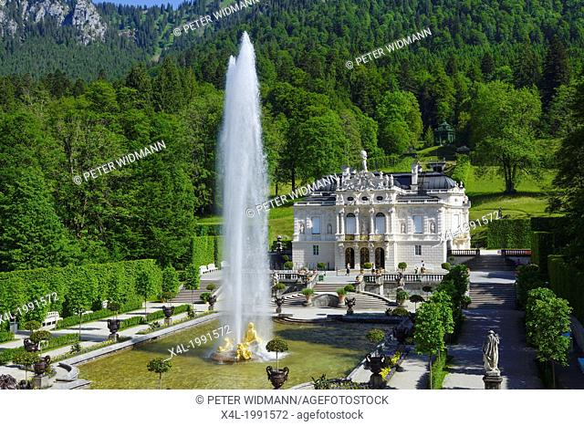Linderhof Castle, Upper Bavaria, Germany