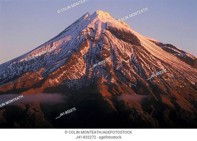 Mt Egmont / Taranki from Pouakai Range Mt Egmont National Park New Zealand