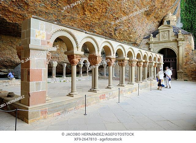 San Juan de la Peña romanesque monastery.Huesca province.Aragón.Spain
