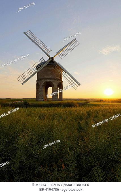 Sunset at Chesterton windmill, Lemington Spa, Warwickshire, United Kingdom