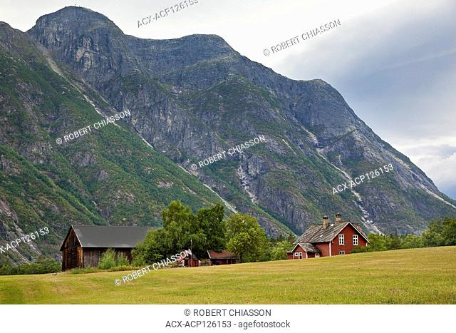 Farm on the Haereid Mountain Plateau southeast of Eidfjord, Norway