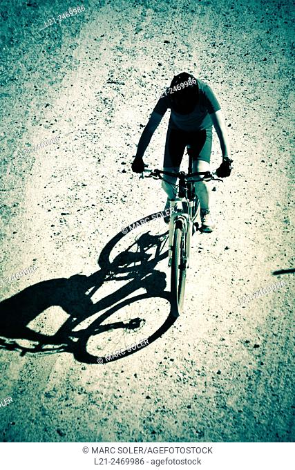 Cyclist, view from above