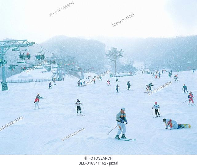 snow, sport, ski, winter, leisure, resort, people