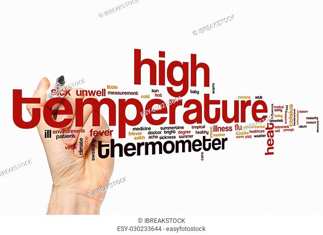 High temperature word cloud concept