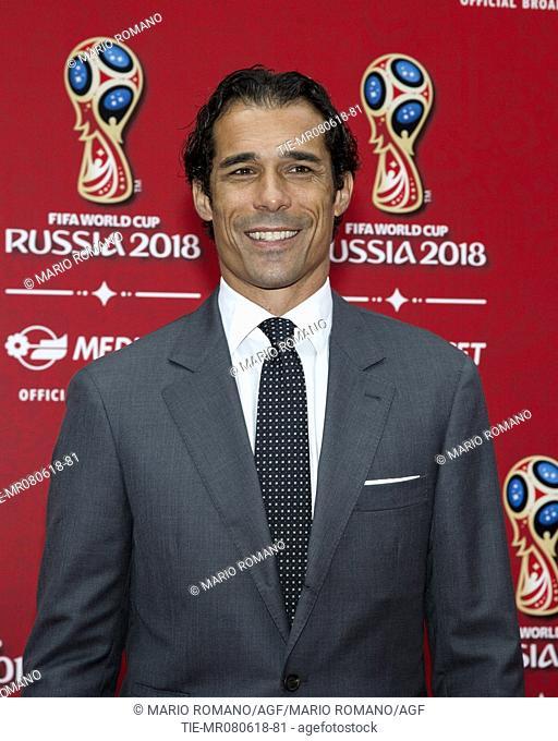 Bernardo Corradi during the press conference of Mediaset tv show FIFA World Cup Russia 2018, Milan, ITALY-07-06-2018