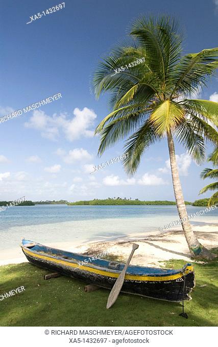 Dugout canoe, Yandup Island, San Blas Islands also called Kuna Yala Islands, Panama