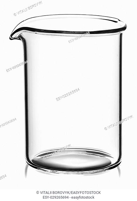 Beaker without divisions isolated on white background