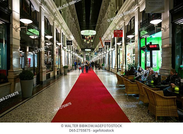 Netherlands, The Hague, De Passage, 19th century shopping arcade, interior