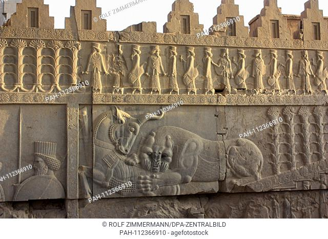 Iran - Persepolis, UNESCO World Heritage Site, ancient Persian residence city under the Achamenids, founded in 520 BC Dareios I in the south of Iran in the...