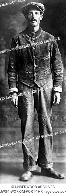 Zeandale, Kansas: September, 26, 1925 A portrait of James Hume, section laborer on the Rock Island Line railroad and a local champion golfer