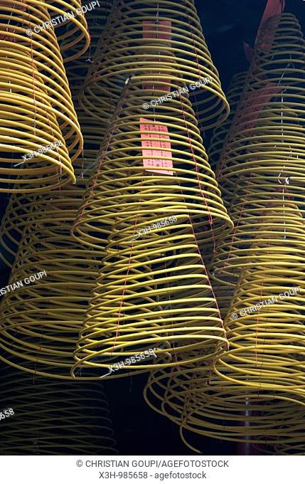 spiral incense at Kun Iam buddhist Temple,goddess of Mercy,Macau,Special Administrative Region,China,Asia