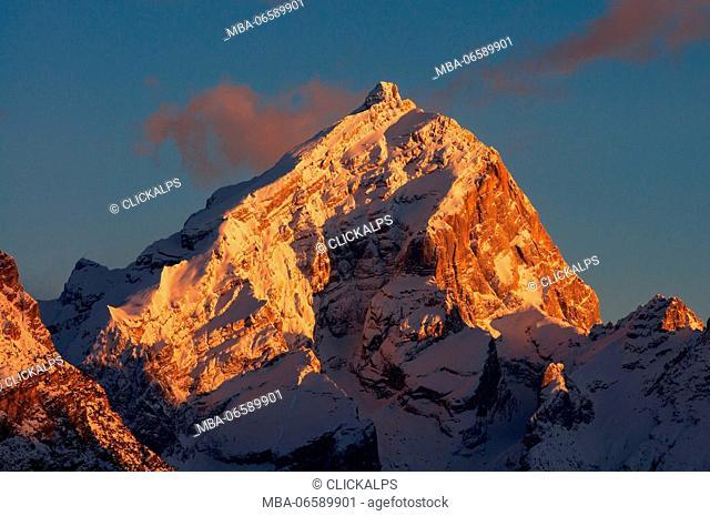 Antelao Mount, Dolomites, Cortina d'Ampezzo, Belluno, Veneto, Italy