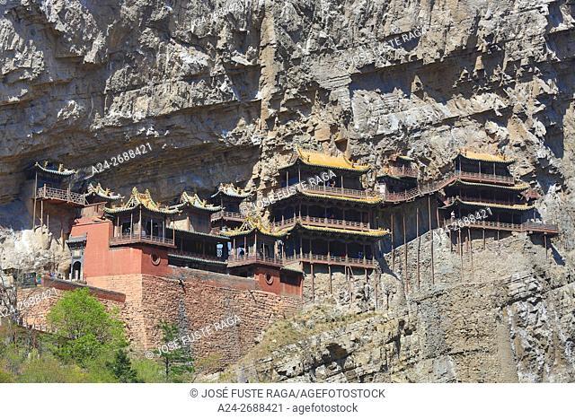 China, Shanxi Province,Near Hunyuan City, Mt. Hengshan, The Hanging Temple (Xuanhong Temple)