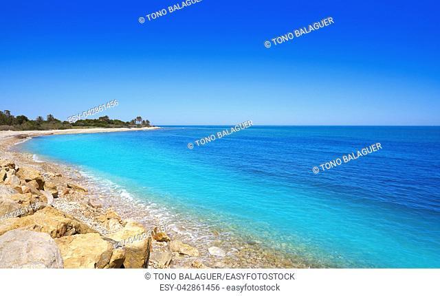 Capicorb beach in Alcoceber also Alcossebre in Castellon of Spain