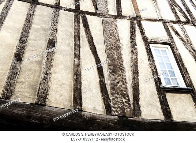 Medieval building detail in Le Marais, Paris, France