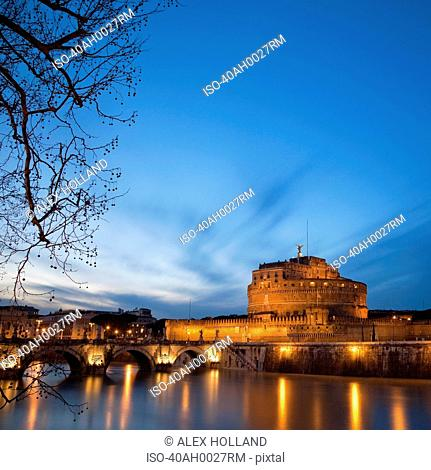 Castel Sant'Angelo lit up at night