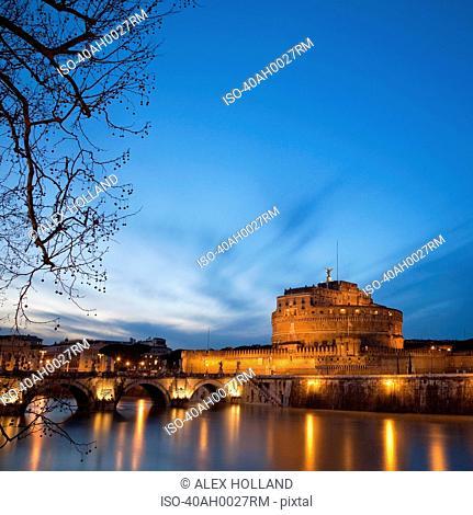 Castel Sant'Angelo lit up at night