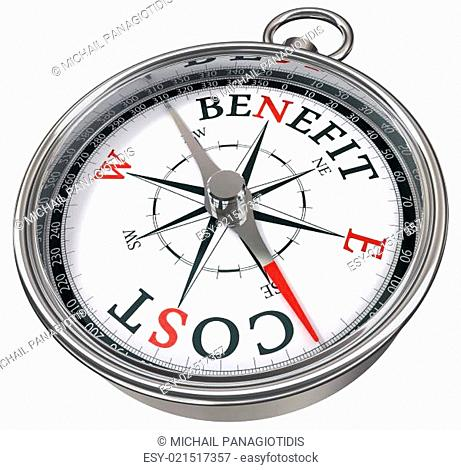 benefit cost concept compass