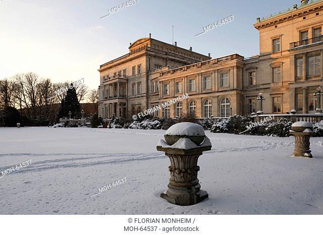 Essen, Villa Hügel im Schnee