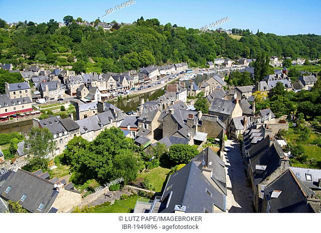 View from the Viaduct, Dinan, Brittany, France, Europe