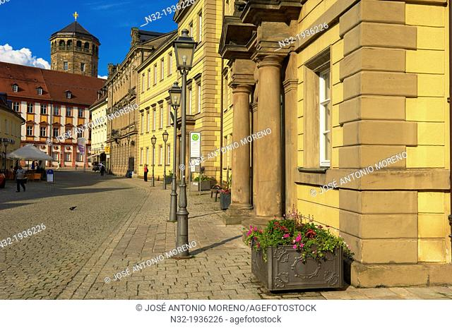 Bayreuth, Kanzleistrasse, Altes Schloss (Old Castle), Upper Franconia, Franconia, Bavaria, Germany