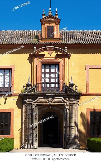 Building facade in the Alcazar,Seville,Spain