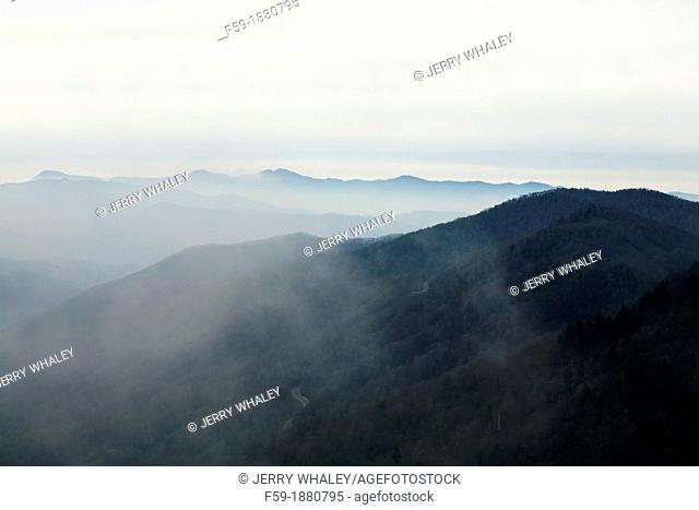 Mountains from Newfound Gap Road, Great Smoky Mtns National Park