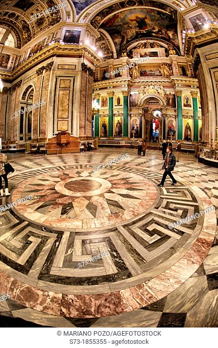 Saint Nicholas cathedral indoor in Saint Petesburg, Russian Federation