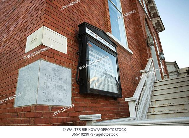 USA, Alabama, Montgomery, Dexter Avenue King Memorial Baptist Church, Dr  Martin Luther King directed the Montgomery Bus Boycott from his office here  MLK jr...