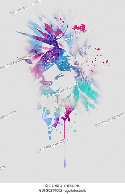 Colorful woman design