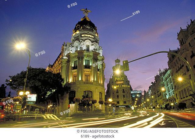 Gran Vía. Madrid. Spain