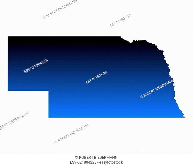 Karte von Nebraska