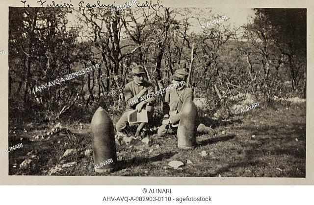 Album Ricordi di Guerra - Italo-Turca 1912-13, Italo-Austriaca 1915-16-17-19, Ines Emma Ferrara: Austrian unexploded grenades, shot 09/04/1916