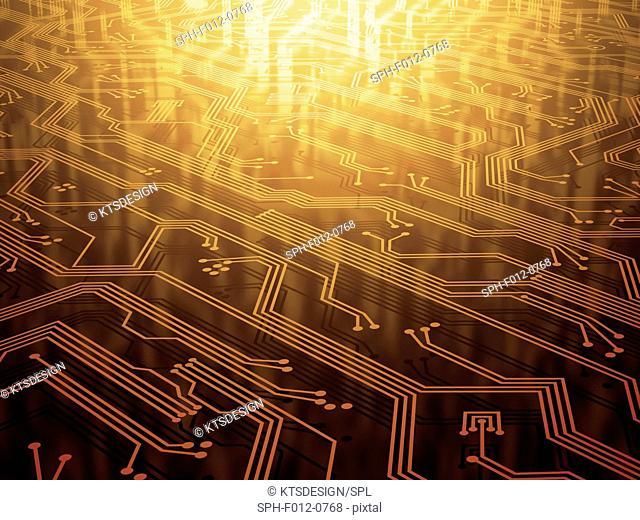 Electronic circuit, illustration