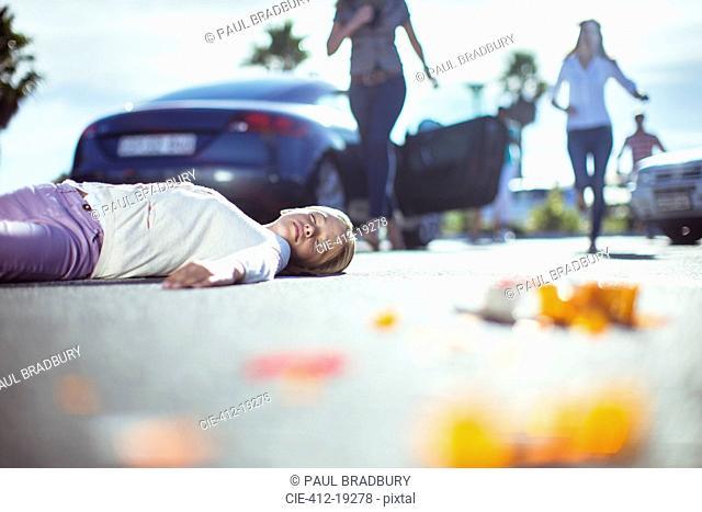 Driver rushing to injured girl on street