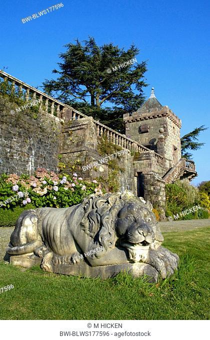ornamental detail of Torosay castle, United Kingdom, Scotland, Isle of Mull