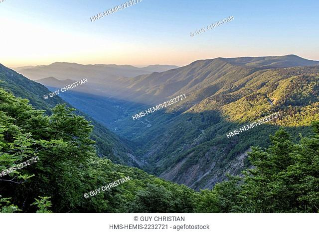 France, Gard, the Causses and the Cevennes, Mediterranean agro pastoral cultural landscape, listed as World Heritage by UNESCO, Valleraugue