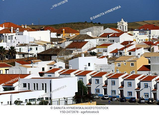 Europe, Portugal, Southern Portugal , Algarve region , Faro district , Vila do Bispo - a charming little town close to Sagres, western coast of Atlantic Ocean