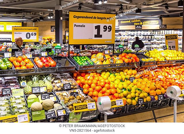 OUD GASTEL THE NETHERLAND DECEMBER 7: The vegetable section in a Jumbo supermarket on December 7, 2016 in Oud Gastel