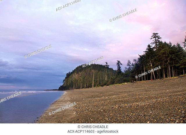 Agate Beach and Tow Hill, Haida Gwaii, formerly known as Queen Charlotte Islands, British Columbia, Canada